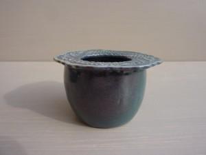 vase dentelles bleu nuit